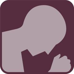 Eine betende Person