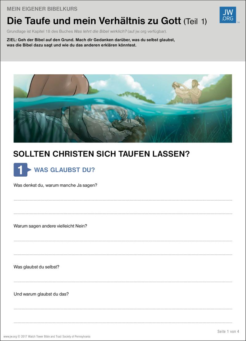 Die Taufe Und Mein Verhältnis Zu Gott Teil 1