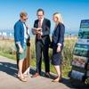 Φορητό σταντ εντύπων σε τουριστικό προορισμό στη Γερμανία