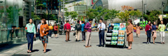 Jehovah's Witnesses preaching in South Korea