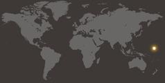 Et verdenskort der viser hvor Marshalløerne ligger