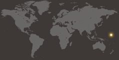 Harta lumii pe care sunt indicate Insulele Marshall