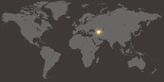 Bản đồ thế giới hiển thị nước Azerbaijan