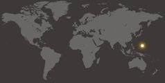 Mapu a dziko lonse osonyeza pomwe pali Guam