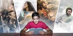 A teenage boy imagines the accounts he reads in the Bible