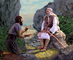 Nöyrä päällikkö anoo Elialta armoa