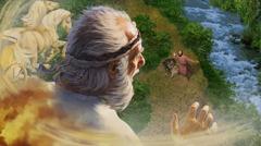 Елисей гледа как Илия се издига във вихъра
