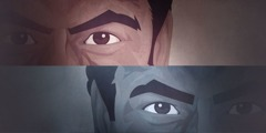 Les yeux d'un d'homme