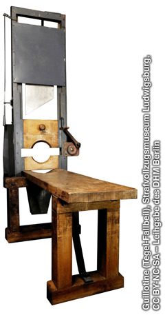Guillotine used by the Nazis
