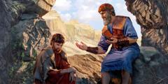 Ионафан разговаривает с Давидом
