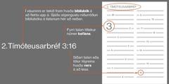Biblíubækur, kaflar og vers