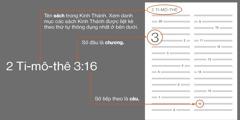 Các sách trong Kinh Thánh, các chương và các câu