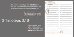 Bibelböcker, kapitel och verser.