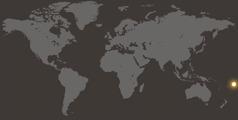 En världskarta där Samoa är markerat.
