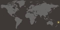 Παγκόσμιος χάρτης που δείχνει την Τόνγκα