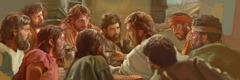 ישוע מכונן את סעודת האדון יחד עם 11 שליחיו הנאמנים