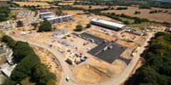 2. avgust 2018 – gradbišče za nove podružnične prostore