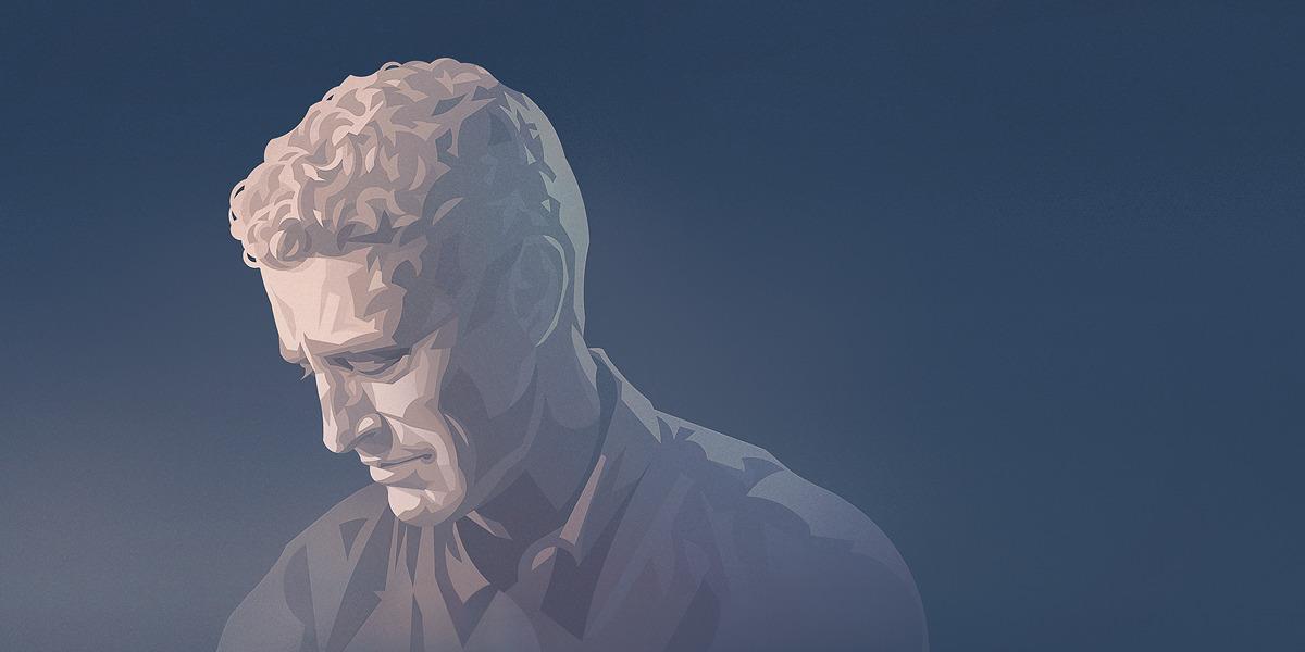 Um homem com pensamentos suicidas