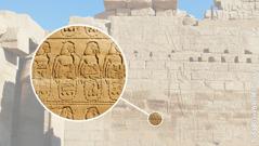 El relleu de Karnak; el requadro mostra captius nugats
