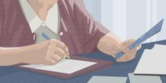 Irma kirjoittaa kirjettä