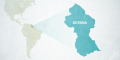 A map of Guyana