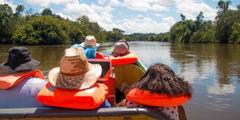 Група Свидетели на Йехова предприемат експедиция, за да споделят библейското послание с хората, живеещи покрай река Марони.