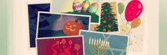 Easter egg, Christmas tree, lobo, menorah, dragon ken nalabaga a Chinese lantern, panniki ken jack-o'-lantern