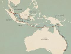 As viagens do Lightbearer apresentadas no mapa