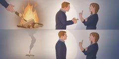 Un esposo que responde a su esposa cuando ella lo provoca echa leña al fuego; el hombre que noresponde así apaga el fuego