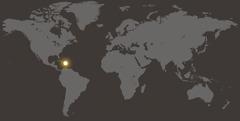 Hartë e botës ku tregohet Republika Domenikane