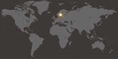 Hartë e botës ku tregohet Suedia