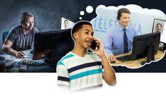 Un ragazzo pensa di aver ricevuto una chiamata da un ufficio, ma in realtà sta parlando con un criminale