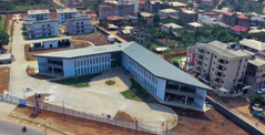 Vista aérea da nova filial de Camarões