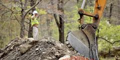 Travaux de construction dans le nord de l'État de New York