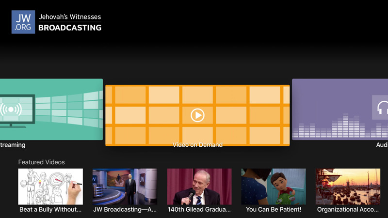Watch JW Broadcasting Video on Demand on Apple TV | Features