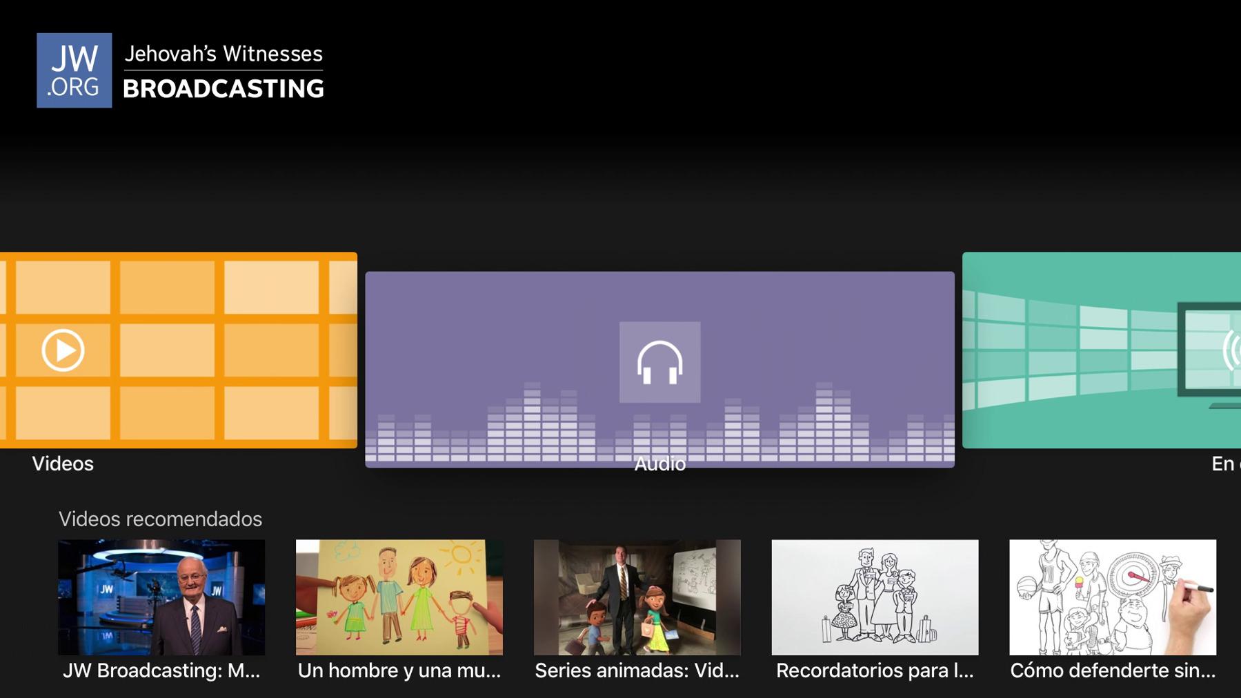 Cómo escuchar archivos de audio de JW Broadcasting en Apple TV ...