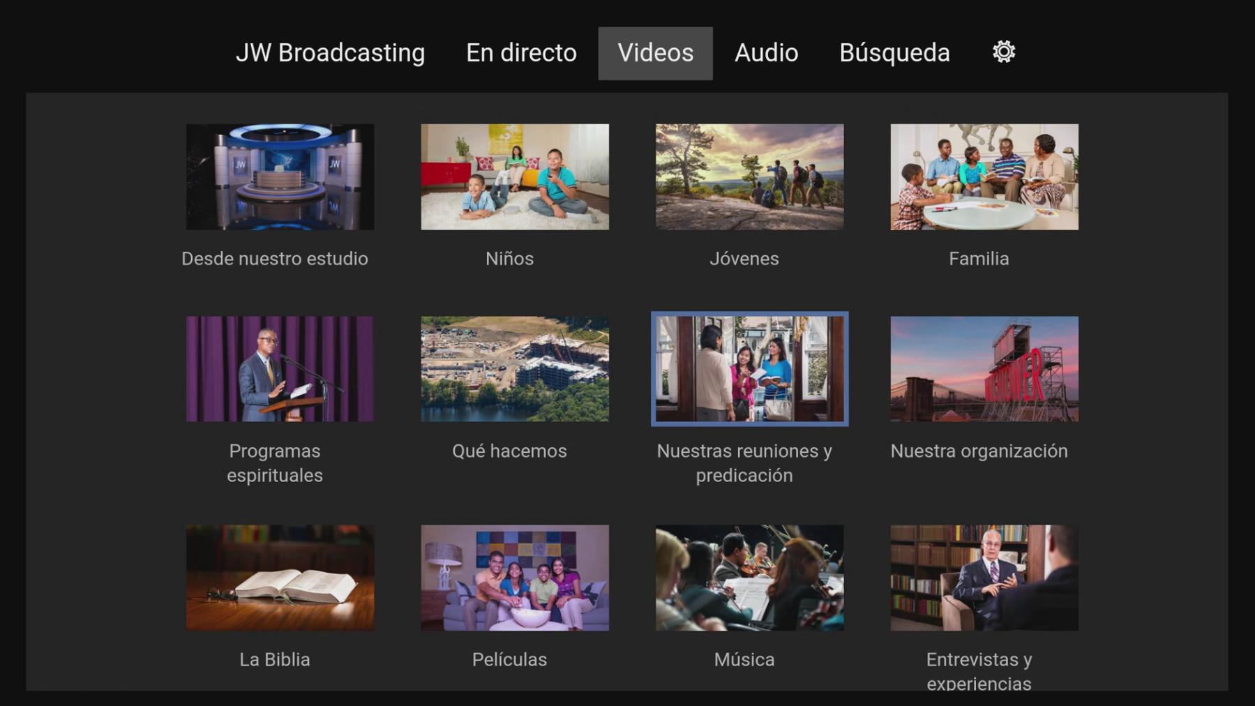 Cómo ver programas de la sección Videos de JW Broadcasting en ...