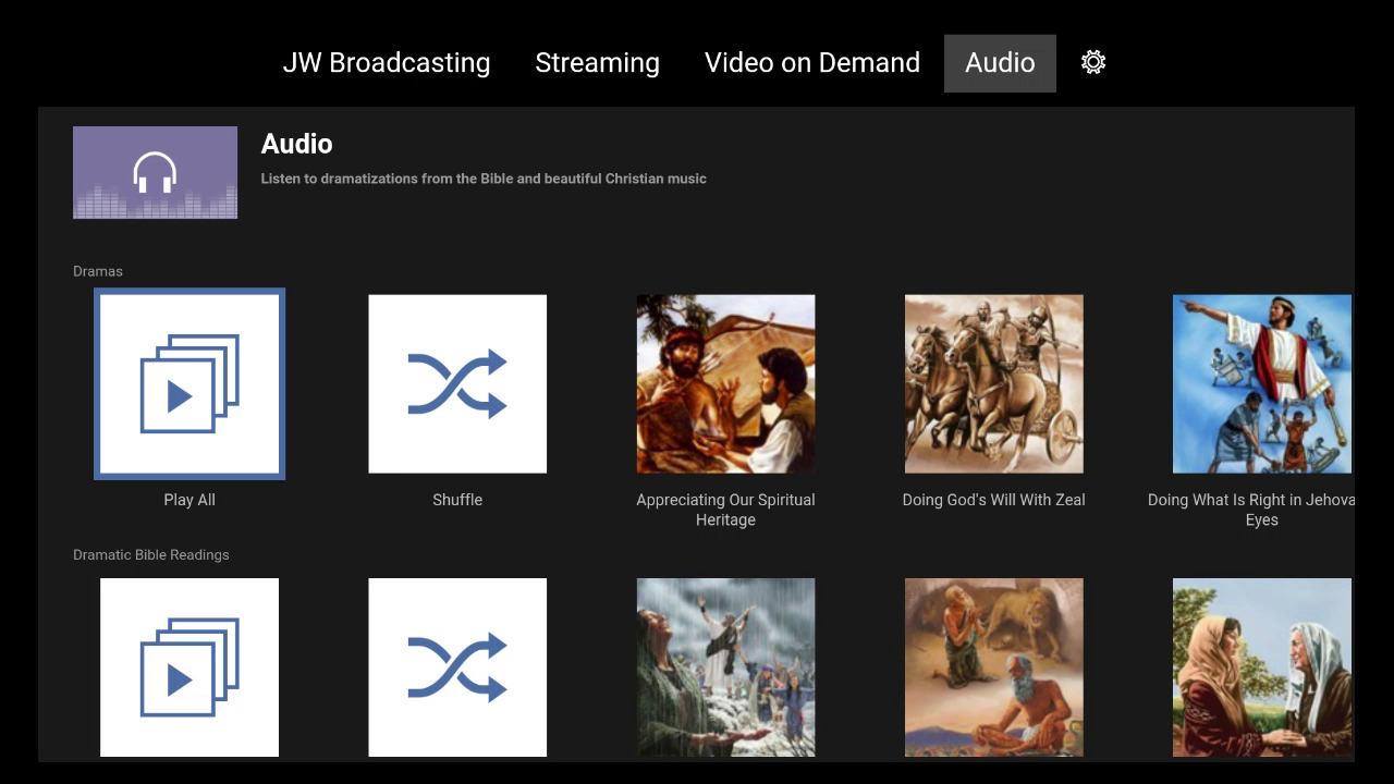 Listen to Audio From JW Broadcasting on Amazon Fire TV | Features