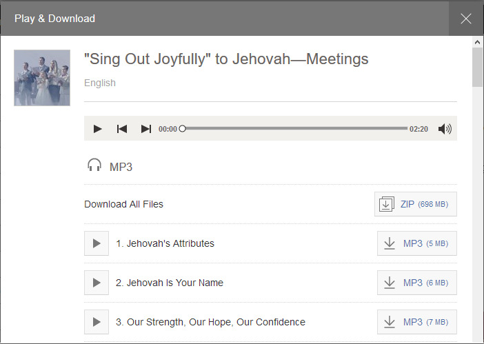 """How to Use """"Sing Out Joyfully"""" to Jehovah Digital Formats   JW ORG Help"""