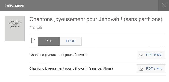 CANTIQUES DES TEMOINS DE JEHOVAH TÉLÉCHARGER LES