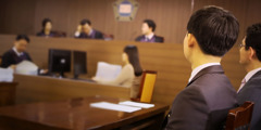 A conscientious objector in South Korea faces a panel of judges
